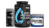 Whey isolado dux 900+bcaa 100 +creatina 300g Kit hipertrofia