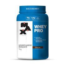 WHEY PRO (1kg) - Chocolate - Max Titanium -