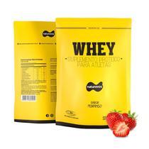 Whey Protein - 907g Refil Morango - Naturovos -