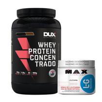 Whey Protein Concentrado 900g Cappuccino + L-glutamina 300g - Dux Nutrition