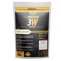 whey protein concentrado isolado hidrolisado 3w 2kg activenutrition - Cappuccino - Active Nutrition