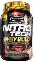 Whey protein  gold baunilha muscletech - 999g -
