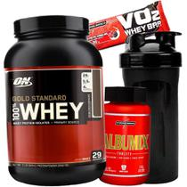 Whey protein Gold Optimum On + Albumina Caps - Gold standard