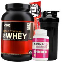 Whey protein Gold Optimum On + Termogenico + Shaker - Gold standard