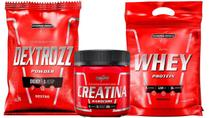 Whey Protein Nutri Whey 900g + Creatina 150g + Dextrozz 1 kg integralmedica -