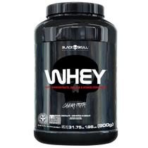 Whey protein - proteína concentrada isolada hidrolisada 900g - Caveira Preta