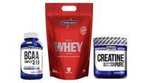 Whey ProteinNutri Whey Protein 1.8 kg Refil + bcaa 60 cap + creatina 300g - Integralmedica