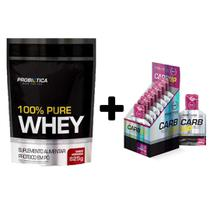 Whey Refil 100% Puro 825g + CarbUp Energy Blend Probiotica - Probiótica