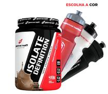 Whey/wey Protein Isolado 450g + Squeeze Body Action - Chocolate - Fefit suplementos
