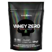 Whey zero black skull refil - 2kg (whey protein isolado) -