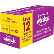 Whiskas Sachê Carne para Gatos Adultos Pague 10 e Leve 12 -
