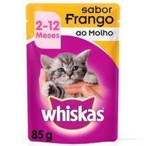 Whiskas Sachê Frango ao Molho - Gatos Filhotes de 2 a 12 Meses 85g -