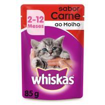 Whiskas Sachê Para Gatos Filhotes de 2 a 12 Meses Sabor Carne ao Molho 85g -
