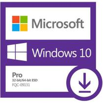 Windows 10 Pro ESD FPP 32 64 bits Digital - Microsoft