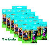 Winner Lapis Cor (Faber 111402) Pequeno 12 Cores com 12 Unidades -