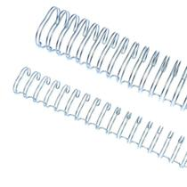 """Wire-o 5/8"""" para 120 fls A4 2x1 Prata(Silver) 50 und - Lassane"""