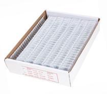 """Wire-o de Encadernação Branco Passo: 2x1 A4 Diâm: 3/4"""" Utilização: 140 folhas Cx: 50un - Lassane"""