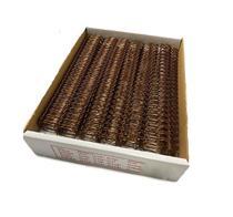 """Wire-o de Encadernação Bronze Passo: 2x1 A4 Diâm: 3/4"""" Utilização: 140 folhas Cx: 50un - Lassane"""