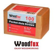 WOODFOX - Parafusos Pocket Hole - Rosca Grossa 1.50 in (38mm) 100 pçs MP100S8112 -