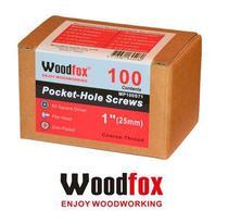 WOODFOX - Parafusos Pocket Hole - Rosca Grossa 1 in (25mm) 100 pçs MP100S71 -