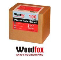 WOODFOX - Parafusos Pocket Hole - Rosca Grossa 2.5 in (64mm) 100 pçs MP100S8212 -