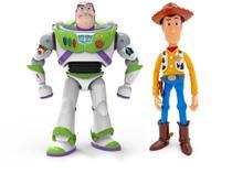 Woody e Buzz Lightyear Toy Story4 Articulados Falam em Português - Toyng