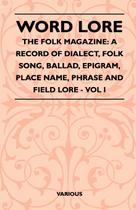 Word Lore - The Folk Magazine - Read books design