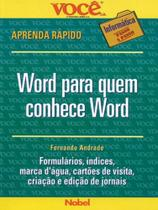 Word Para Quem Conhece Word - Nobel -