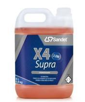 X4 Supra Detergente Desincrustante Alcalino - 5L - Sandet -