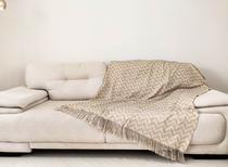 Xale Manta Para Sofa Decorativo Com Franja 3 lugares 1,40 x 2,10 Jacquard - Love4Home