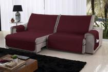 Xále Protetor Sofá Retrátil Reclinável Assento 1,60m Cabernet e Palha - Lavive -