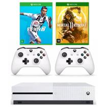 Xbox One - 1 Terabyte + HDR + 4K Streaming + 2 controles e 2 Jogos - Pronta entrega
