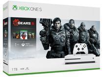 Xbox One S 1TB 1 Controle Microsoft  - com 5 Jogos Game Pass e Live Gold 1 Mês