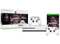 Xbox One S 1TB com PES 20 - com 2 Controles Sem Fio Branco