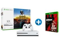 Xbox One S 1TB Microsoft 1 Controle com 1 Jogo - via Download + Wolfenstein: The Two-Pack