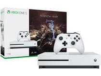 Xbox One S 1TB Microsoft 1 Controle - com 1 Jogo