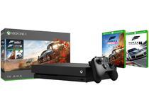 Xbox One X 1TB 1 Controle Microsoft com 2 Jogos - com 1 Mês de Game Pass -