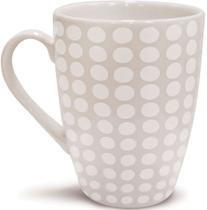 Xícara Caneca Cerâmica Para Café Ou Chá Jantar Manhã 320ml Bolinhas - Yoi