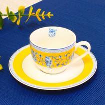 Xícara com pires de porcelana palais para café - capacidade de 100 ml - caixa com 6 unidades - Noblesse