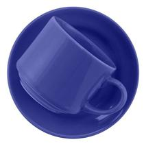 Xicara de Louca para Cha com Pires Donna Azul Biona Oxford 200 Ml -