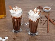 Xicara para capuccino latte macchiato colombian - 260 ml - cx c/ 2 - vidro - Banquet
