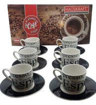 Xícaras Café Conjunto De Porcelana Java Jogo 12pçs Haüskraft -