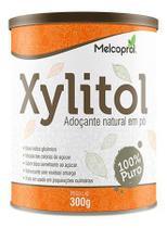 Xilitol adoçante natural em pó 100% puro melcoprol 300 g -