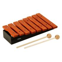Xilofone c3-c4 zion 8 teclas de madeira com base inclinada escala diatônica -