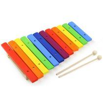 Xilofone colorido 12 notas Dolphin 9735 - musicalização infantil - afinado -