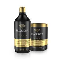Ybera Kit Relaxamento Ácido - Black Diva 500ml + 500g - Ybera paris