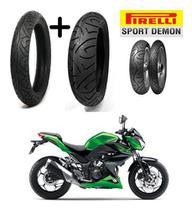 Z300 Kawasaki Pneu Dianteiro E Tras Medida Original Pirelli -