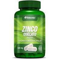 ZINCO QUELATO 29,59mg HERBAMED - com 60 cápsulas -