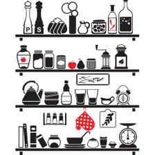 a84a09a57 Adesivo Parede Cozinha Frase Crie Memórias - Quartinhos - Adesivo e ...