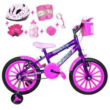 3eebe5421 Bicicleta Infantil Aro 20 Azul Kit E Roda Aero Azul C  Capacete e ...